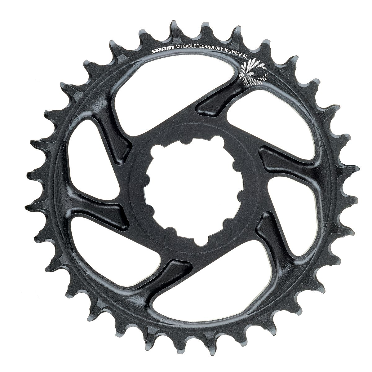 SRAM X-Sync 2 Eagle Chainring 34T Direct Mount 3mm Offset Boost Blk w//Gold Logo